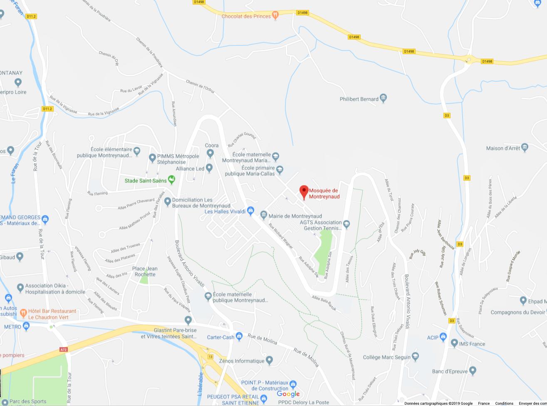 Mosquée de Montreynaud GoogleMaps